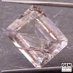 Colorless Rutile Quartz 16.22 Carat Octagon from Madagascar Gemstone