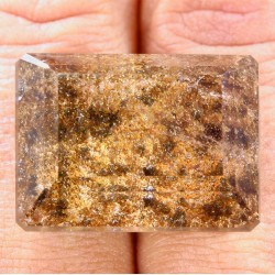 Quartz with Hematite nclusions 56.68 Carat Octagon from Madagascar Gemstone