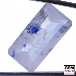 Quartz with Blue Fluorite Inclusions 11.07 Carat Octagon Cut from Madagascar Gemstone