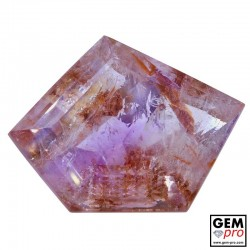 Amethyst Inclusions 56.02ct Fancy Cut from Madagascar Natural and Untreated Gemstone