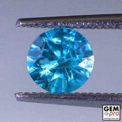 Blue Apatite from Madagascar 0.8 carat 5.9 x 5.9 x 3.8 mm