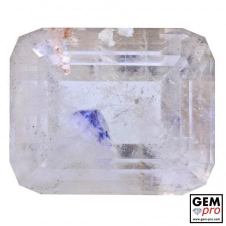 Quartz inclusions Fluorite Bleue 39.06 cts Octogonal Gemme de Madagascar