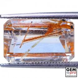Colorless Rutile Quartz 7.24 Carat Octagon from Madagascar Gemstone