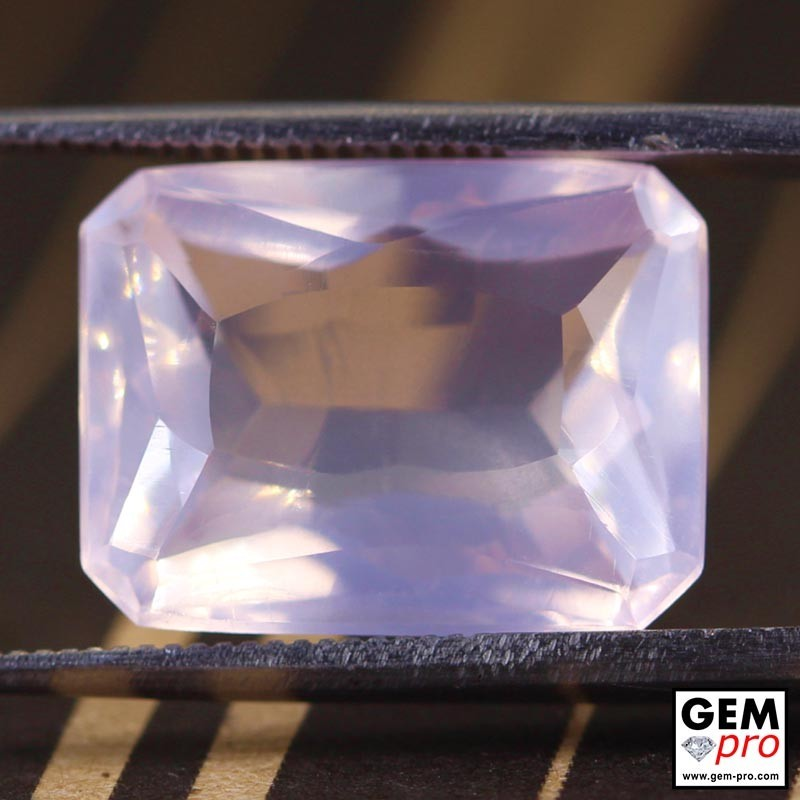 Pink Rose Quartz 9.62 Carat Octagon from Madagascar Gemstone