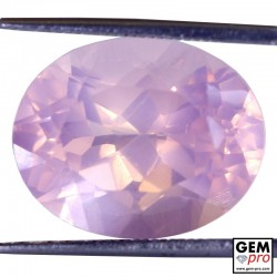 14.39ct Rose Quartz AAAA Oval Cut Natural Gemstone from Madagascar
