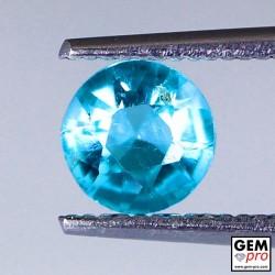 Blue Apatite 0.65 Carat Round Madagascar Gemstone