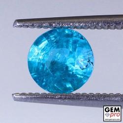 Blue Apatite 0.9 Carat Diamond Round Cut from Madagascar 6.1 x 6.1 x 3.9 mm