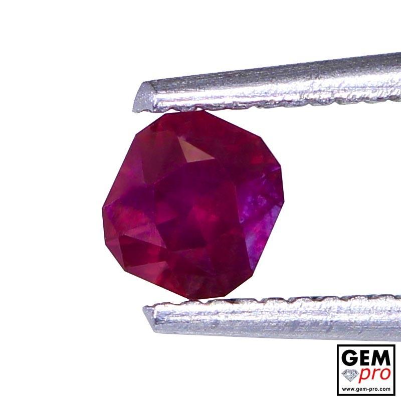 0.40 carat Octagon Cut 4.1x3.8 mm Red Ruby Gemstone