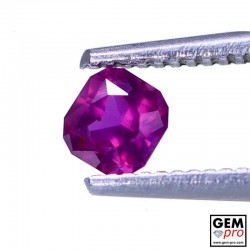 0.35 carat Octagon Cut 3.8 x 3.6 mm Pink Red Ruby Gemstone