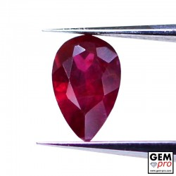 0.38 carat Pear Cut 5.7x3.5 mm Red Ruby Gemstone