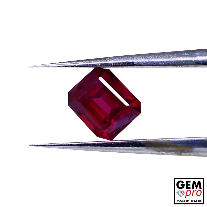 0.53 carat Octagon Cut 4.5 x 3.8 mm Red Ruby Gemstone