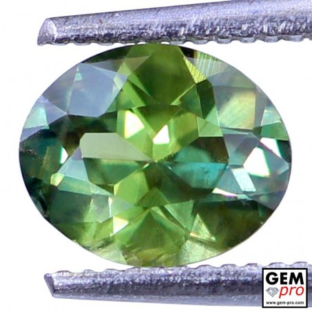 1.17ct Green Sapphire Oval Cut 7 x 5 mm Natural Gemstone from Madagascar