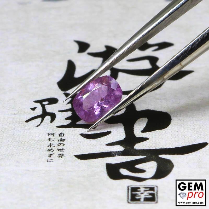 0.51 Carat Saphir Violet Gemme de Madagascar
