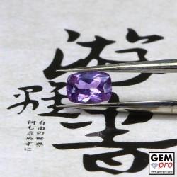 0.41 Carat Pinkish Violet Sapphire Gem from Madagascar