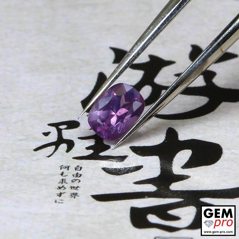 0.43ct Violet Sapphire Cushion Cut 5 x 3 mm Natural Gemstone from Madagascar
