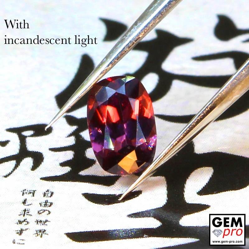 0.61 Carat Multicolor Color-Change Sapphire Gems from Madagascar