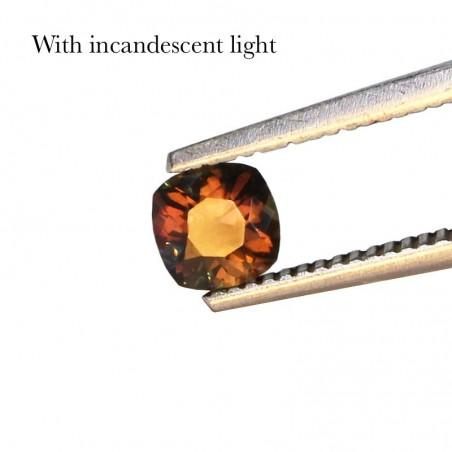 0.47 Carat Multicolor Color-Change Sapphire Gems from Madagascar