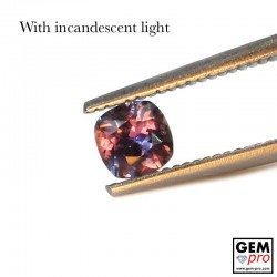 0.44 Carat Multicolor Color-Change Sapphire Gems from Madagascar