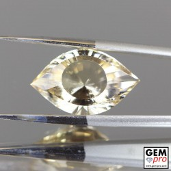 8.44 ct Yellow Golden Citrine Gem from Madagascar Natural and Untreated