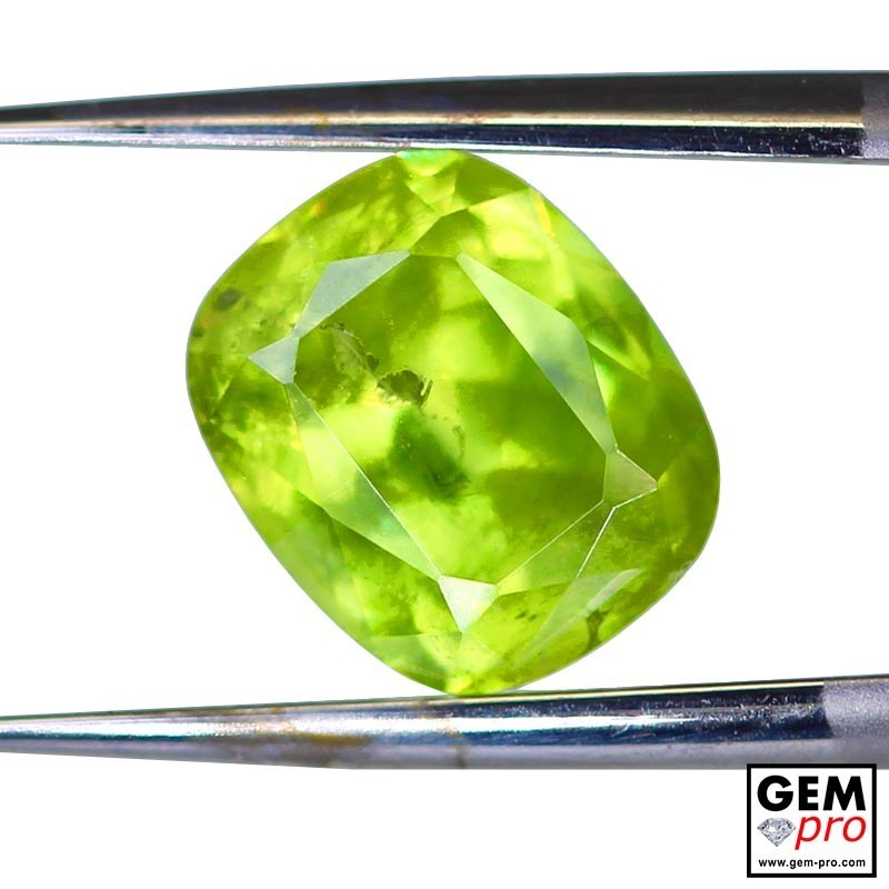 3.22 Yellowish Green Sphene from Madagascar Natural and Untreated