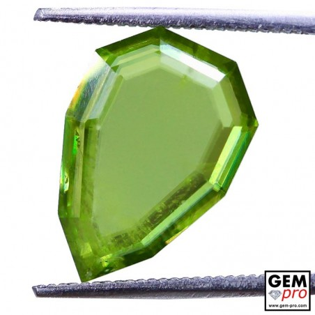 5.69 Yellowish Green Sphene from Madagascar Natural and Untreated
