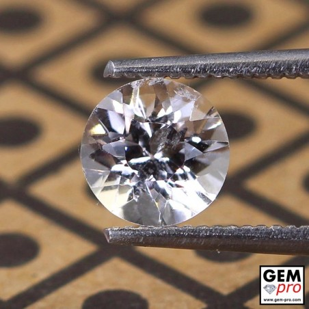 0.96 ct Colorless Tourmaline Gems from Madagascar