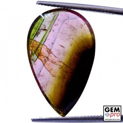 6.70 ct Multicolor Tourmaline Pear Shape Cut 21 x 13 mm Natural Gemstone from Madagascar