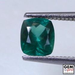Green Apatite 0.91 Carat Cushion Cut Madagascar Gemstone
