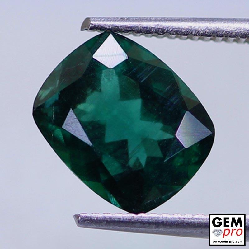 Green Apatite 2.59 Carat Cushion Cut Madagascar Gemstone
