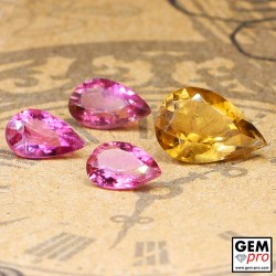 2.89 ct Mixed Colors Tourmaline Gem 4 pcs from Madagascar Natural and Untreated