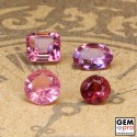 1.6 ctw. Pink Tourmaline 4 pcs lot
