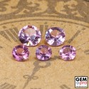 1.5 ctw. Purplish Pink Tourmaline 5 pcs lot