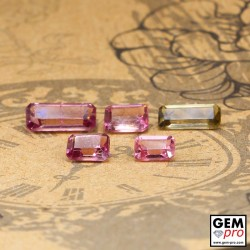 3.67 ct Mixed Colors Tourmaline Gem 5 pcs from Madagascar Natural and Untreated