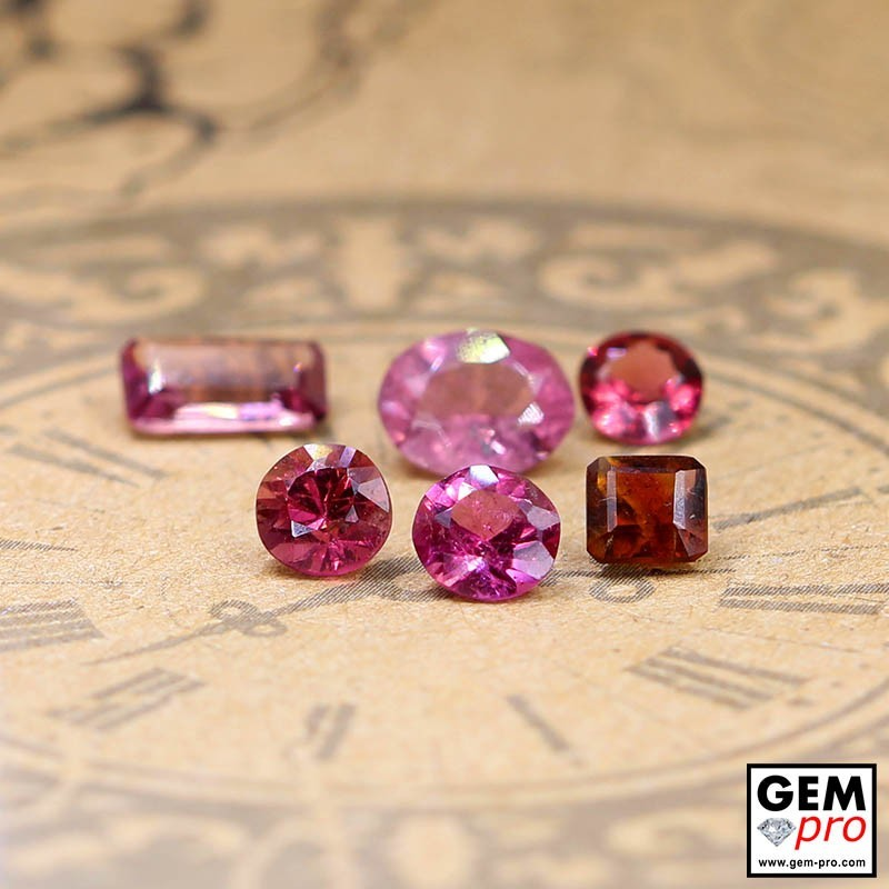 3.31 ct Mixed Colors Tourmaline Gem 6 pcs from Madagascar Natural and Untreated