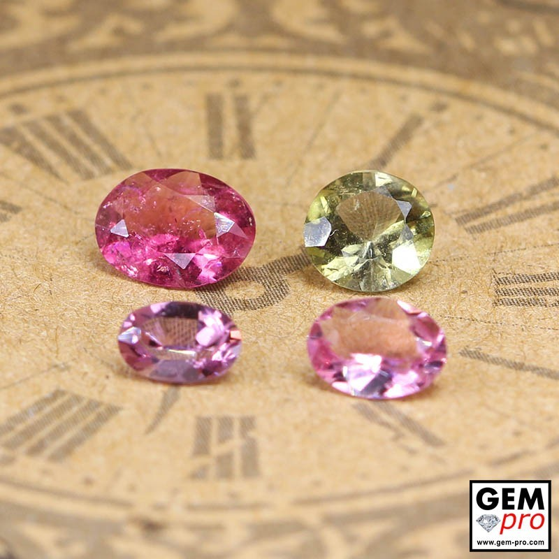 2.10 ct Mixed Colors Tourmaline Gem 4 pcs from Madagascar Natural and Untreated