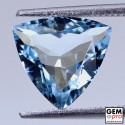 Blue Aquamarine 2.3ct Trillion from Madagascar Natural and Untreated Gemstone