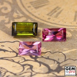 2.76 ct Mixed Colors Tourmaline Gem 3 pcs from Madagascar Natural and Untreated