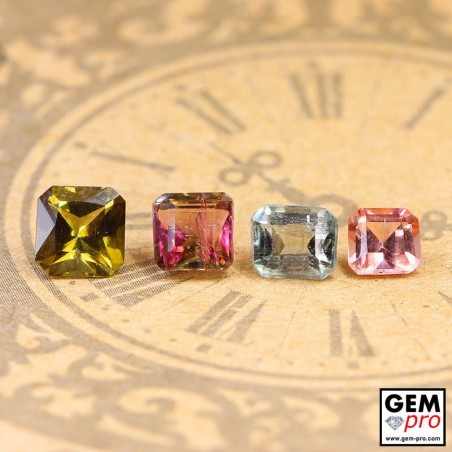 3.02 ct Mixed Colors Tourmaline Gem 4 pcs from Madagascar Natural and Untreated