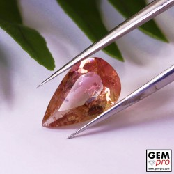 1.84 ct Pink Rose Orange Tourmaline Gems from Madagascar