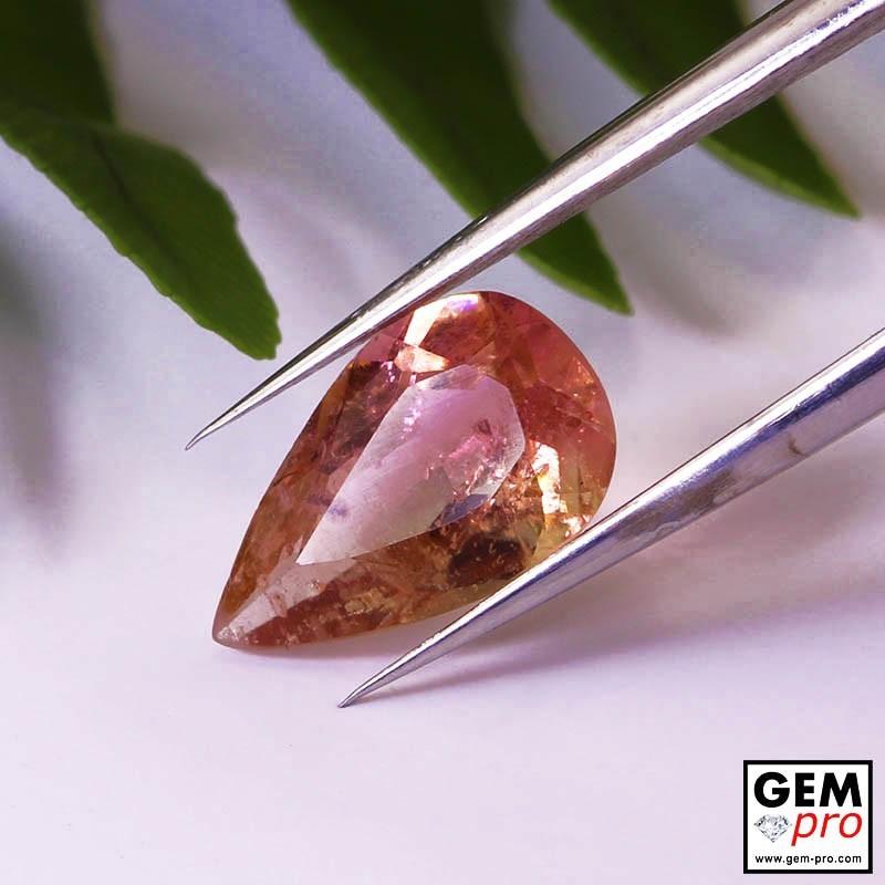 1.84 ct Pink Rose Orange Tourmaline Gems from Madagascar