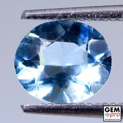Blue Aquamarine 1.17ct Oval from Madagascar Natural and Untreated Gemstone