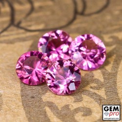 1.22 ct Rose Pink Tourmaline Gem 4 pcs from Madagascar Natural and Untreated
