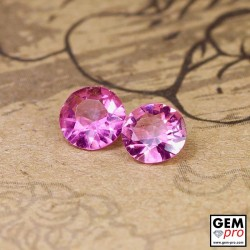 0.75 ct Rose Pink Tourmaline Gem 2 pcs from Madagascar Natural and Untreated