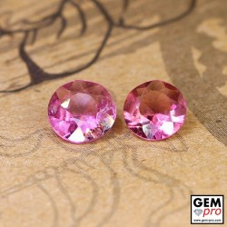 0.95 ct Rose Pink Tourmaline Gem 2 pcs from Madagascar Natural and Untreated