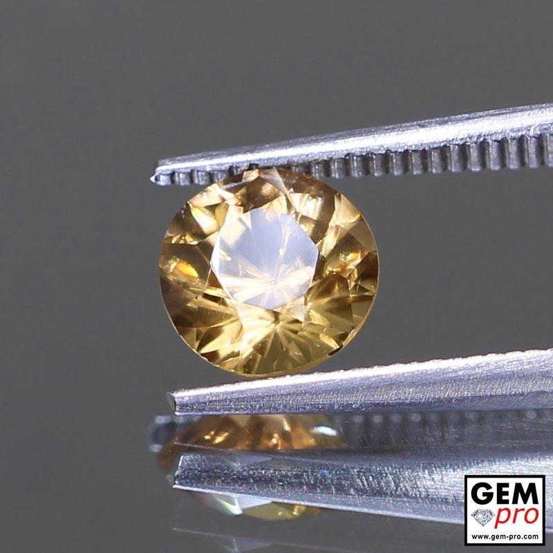 Golden Yellow Zircon 2.12 ct Round from Madagascar Gemstone