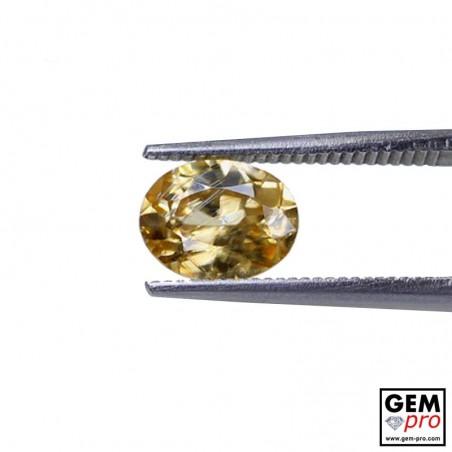Golden Yellow Zircon 1.98 ct Oval from Madagascar Gemstone