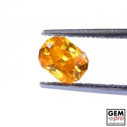 Golden Orange Zircon 1.33ct Cushion from Madagascar Gemstone