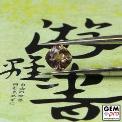 0.40 Carat Golden Brownish Sapphire Gem from Madagascar