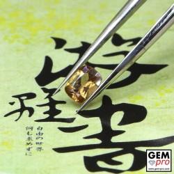 0.40 Carat Golden Sapphire Gem from Madagascar