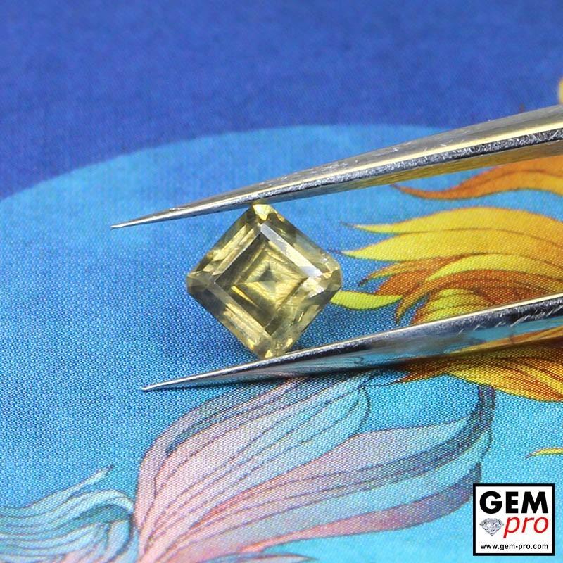 Yellow Sapphire 0.62 ct Octagon from Madagascar Gemstone